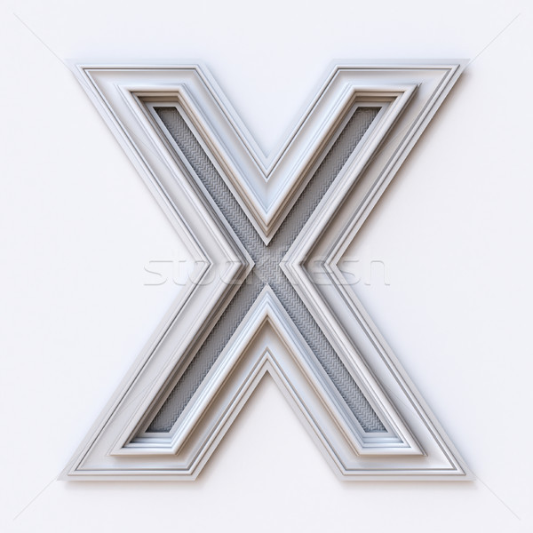 White picture frame font Letter X 3D Stock photo © djmilic