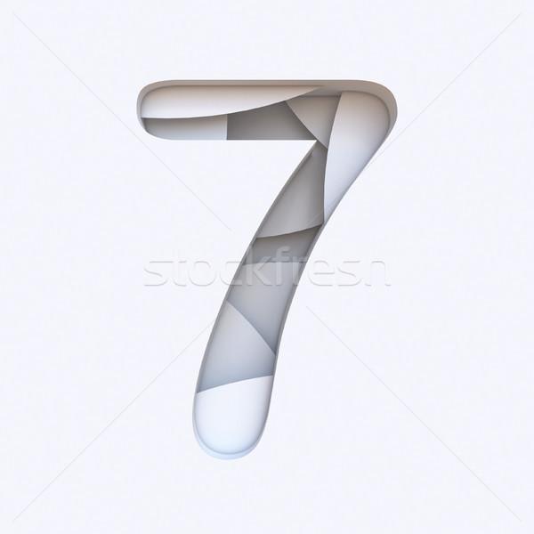 белый аннотация шрифт числа семь Сток-фото © djmilic