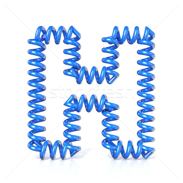 Spring, spiral cable font collection letter - H. 3D Stock photo © djmilic