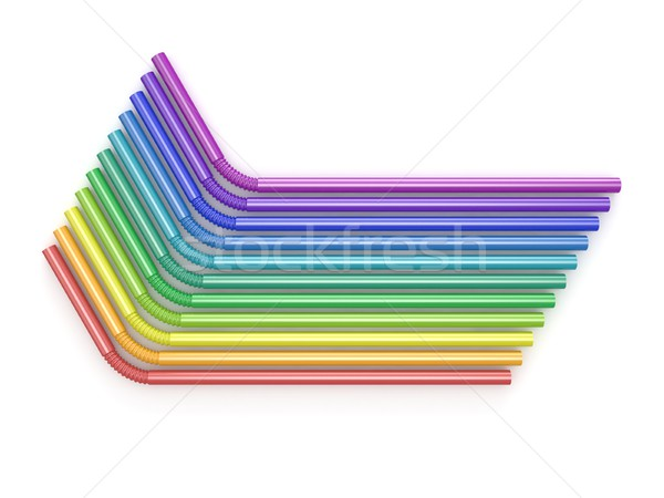 飲料 虹色 先頭 表示 3D 3dのレンダリング ストックフォト © djmilic