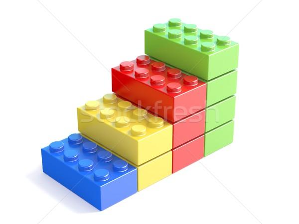 Verbazingwekkend Kleurrijk · speelgoed · bouwstenen · kinderen · 3D - stockfoto AJ-15