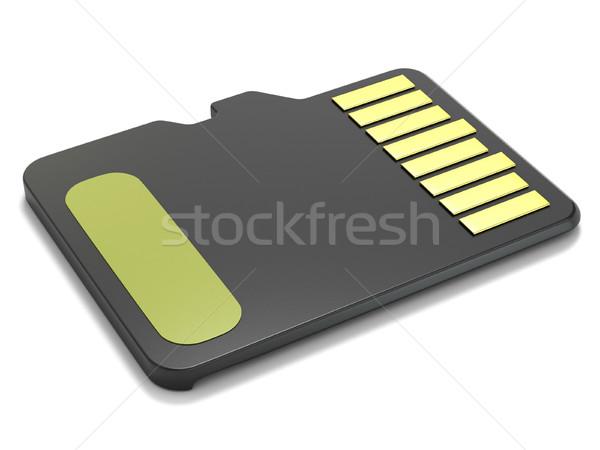 Emlék kártya hátulnézet 3D 3d render illusztráció Stock fotó © djmilic