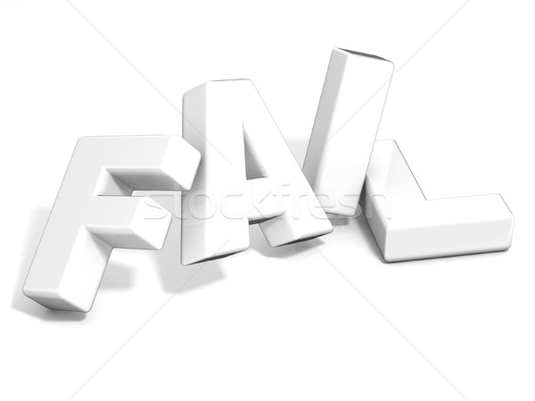 Fail concept. White letters isolated over white background. 3D Stock photo © djmilic