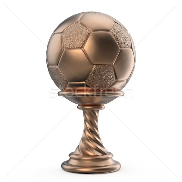 Bronce trofeo taza fútbol fútbol 3D Foto stock © djmilic