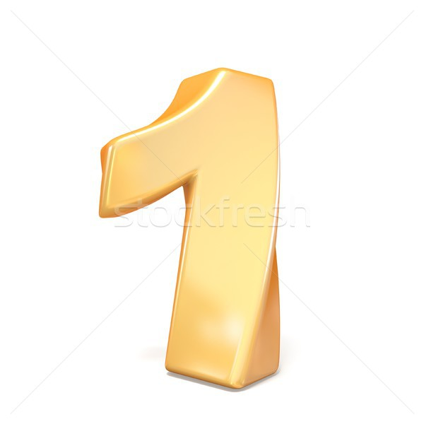 Orange twisted font number ONE 1  3D Stock photo © djmilic