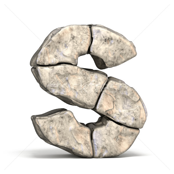 Stone font letter S 3D Stock photo © djmilic