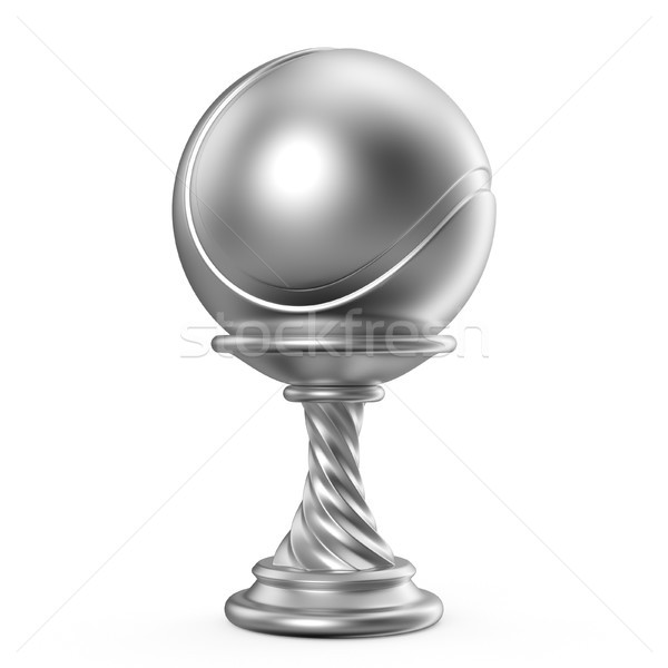 Silver trophy cup TENNIS 3D Stock photo © djmilic