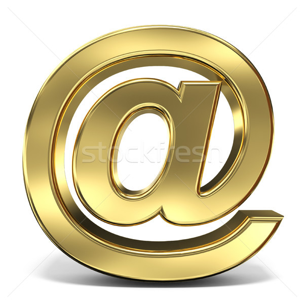 E-mail sign at symbol 3D rendering illustration on white backgro Stock photo © djmilic