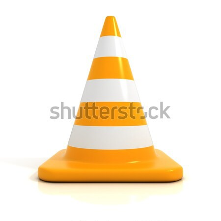 Traffic cone 3D Stock photo © djmilic