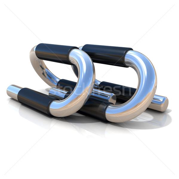 Steel push-up bars Stock photo © djmilic