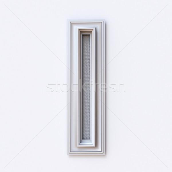 Blanco marco de imagen fuente letra i 3D Foto stock © djmilic