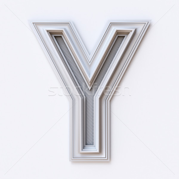 White picture frame font Letter Y 3D Stock photo © djmilic