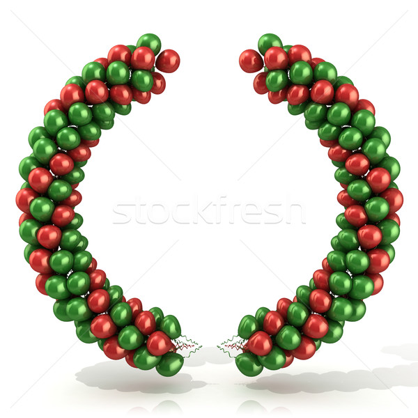 Red and green balloons arc laurel Stock photo © djmilic
