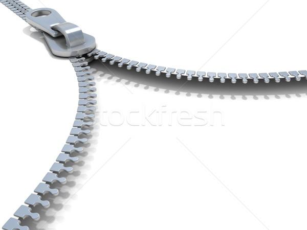 Zipper. Side view. 3D Stock photo © djmilic