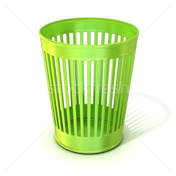 пусто зеленый мусор мусорный ящик изолированный Сток-фото © djmilic