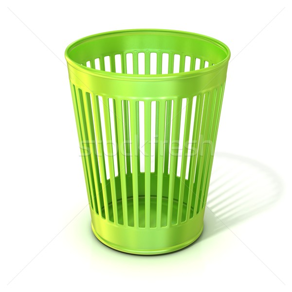 Empty green trash bin, garbage can Stock photo © djmilic