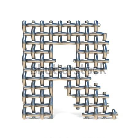 Metall digit Zahl vier 3D 3d render Stock foto © djmilic