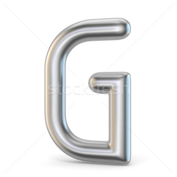 Metal alphabet symbol. Letter G 3D Stock photo © djmilic