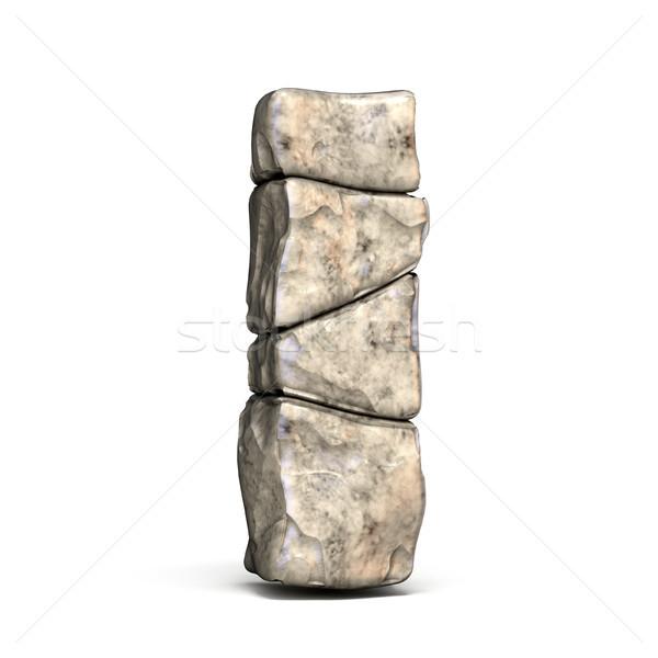 Stone font letter I 3D Stock photo © djmilic