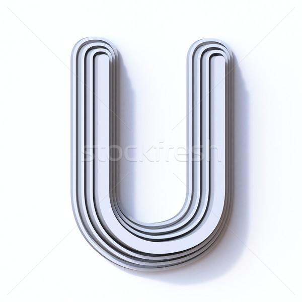 Three steps font letter U 3D Stock photo © djmilic