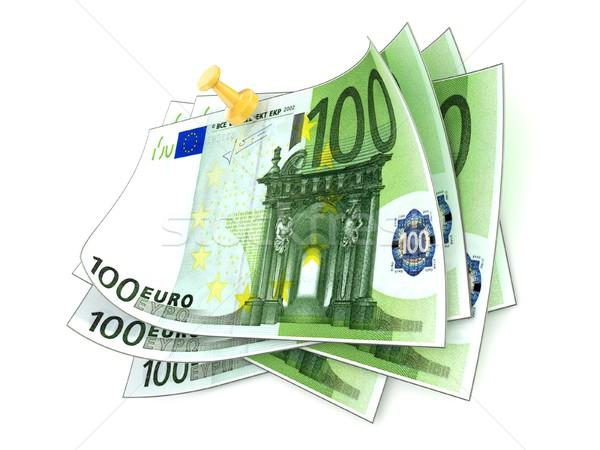 Een honderd euro witte 3D Stockfoto © djmilic