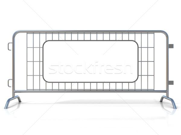 Steel barricades, isolated on white background. Front view Stock photo © djmilic