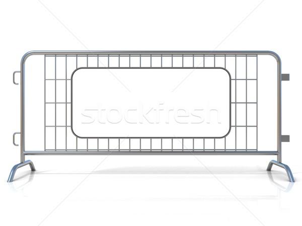 Staal geïsoleerd witte teken Stockfoto © djmilic
