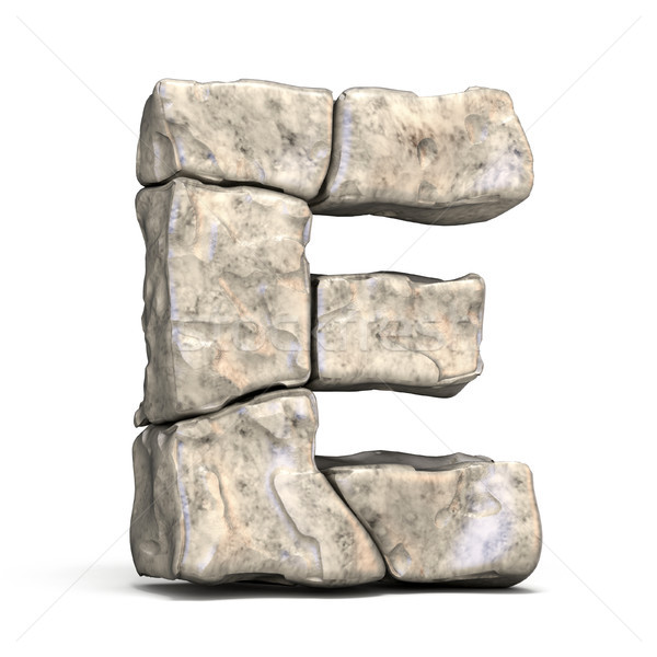 Stone font letter E 3D Stock photo © djmilic