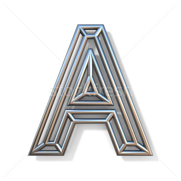 Drót skicc betűtípus levél 3D renderelt kép Stock fotó © djmilic