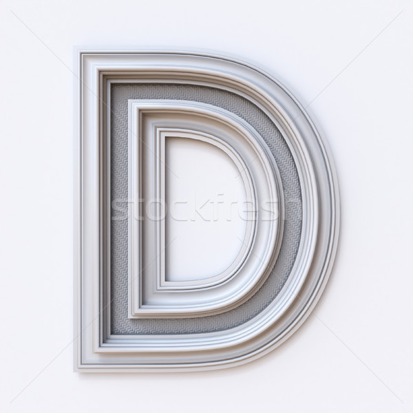 White picture frame font Letter D 3D Stock photo © djmilic
