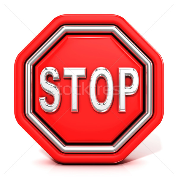 Stop sign. 3D Stock photo © djmilic
