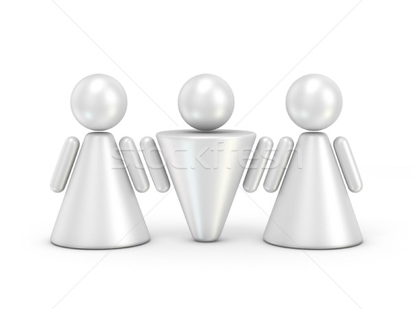 Three abstract figures. 3D Stock photo © djmilic