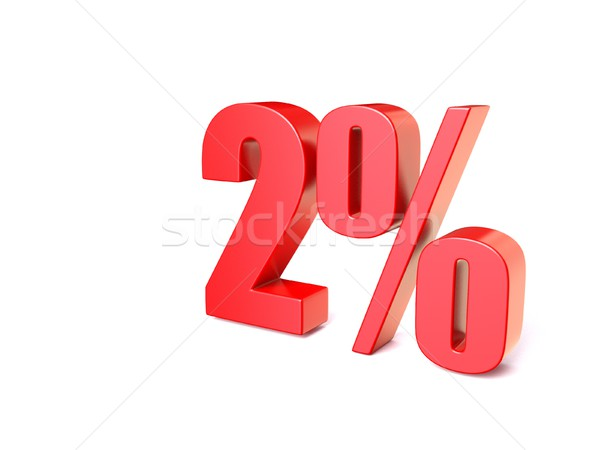 Red percentage sign 2. 3D Stock photo © djmilic