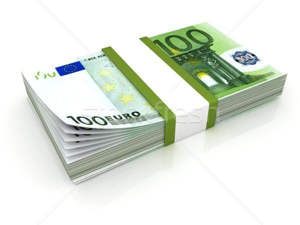 Stack of hundreds euros Stock photo © djmilic