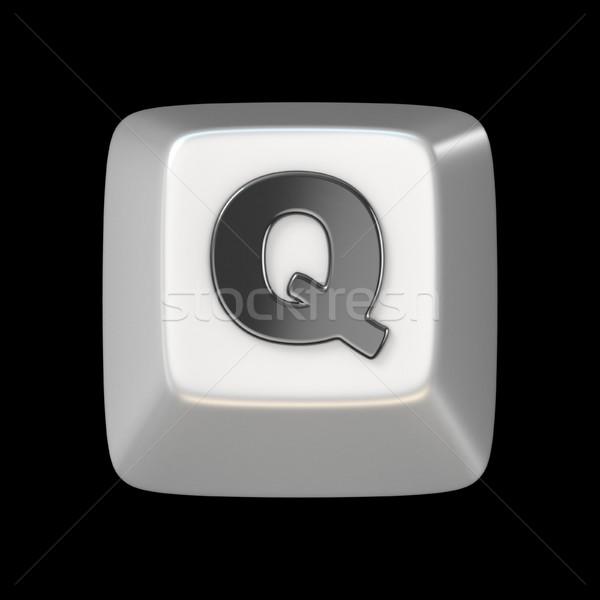 Computer keyboard key FONT. Letter Q 3D Stock photo © djmilic