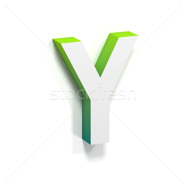 Green gradient and soft shadow letter Y Stock photo © djmilic