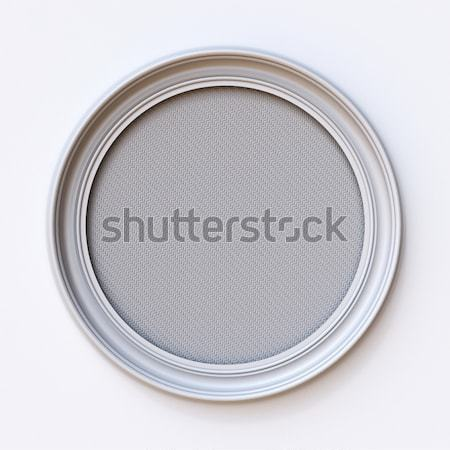 White canvas picture frame Circle 3D Stock photo © djmilic