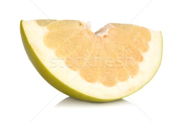 四半期 中国語 グレープフルーツ 孤立した 白 食品 ストックフォト © dla4