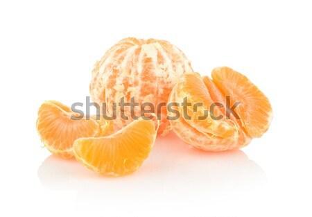 Piezas aislado blanco fondo naranja Foto stock © dla4