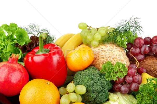 Dietético conjunto paleo dieta legumes frutas Foto stock © dla4