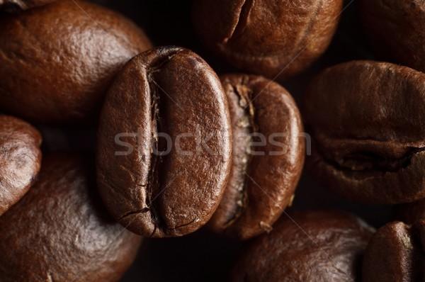 Macro tiro café feijões Foto stock © dla4