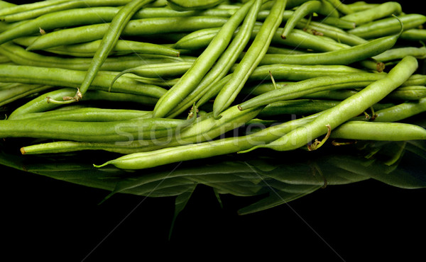 Green beans on black background,healthy food Stock photo © dla4