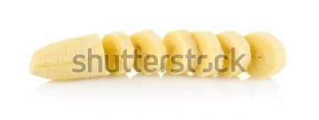 Closeup photo of sliced banana on white background  Stock photo © dla4
