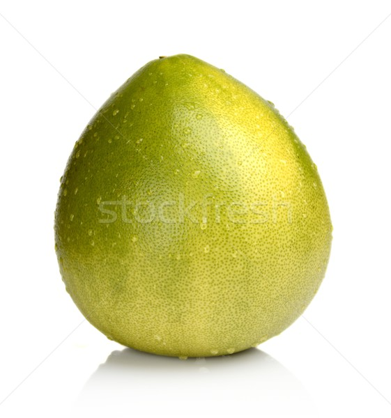 Wet Pomelo, chinese grapefruit with drop waters isolated on white Stock photo © dla4