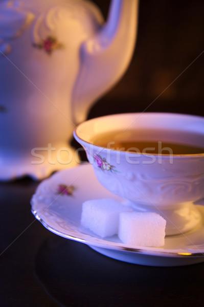 Taza té negro jarra Foto stock © dla4