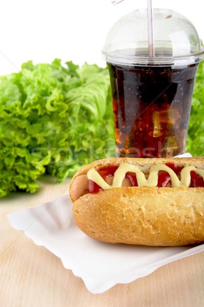 Alface cola secretária cachorro-quente Foto stock © dla4