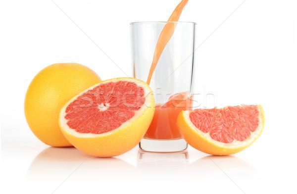 Sap witte grapefruit geïsoleerd Stockfoto © dla4