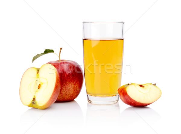 クローズアップ ショット 赤いリンゴ ジュース ストックフォト © dla4