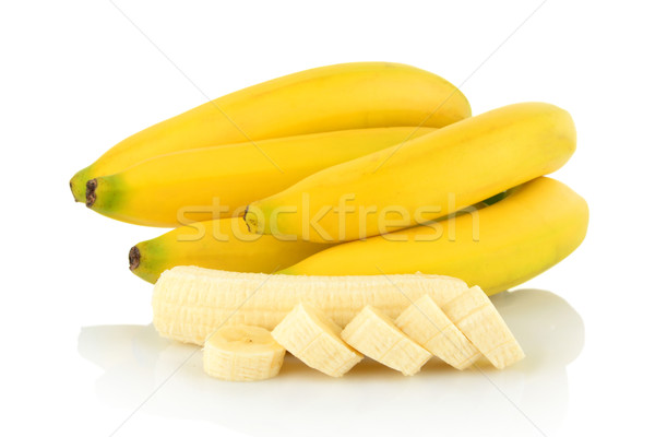 Bunch of bananas with slices on white background  Stock photo © dla4