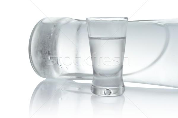 Butelki szkła wódki odizolowany biały Zdjęcia stock © dla4